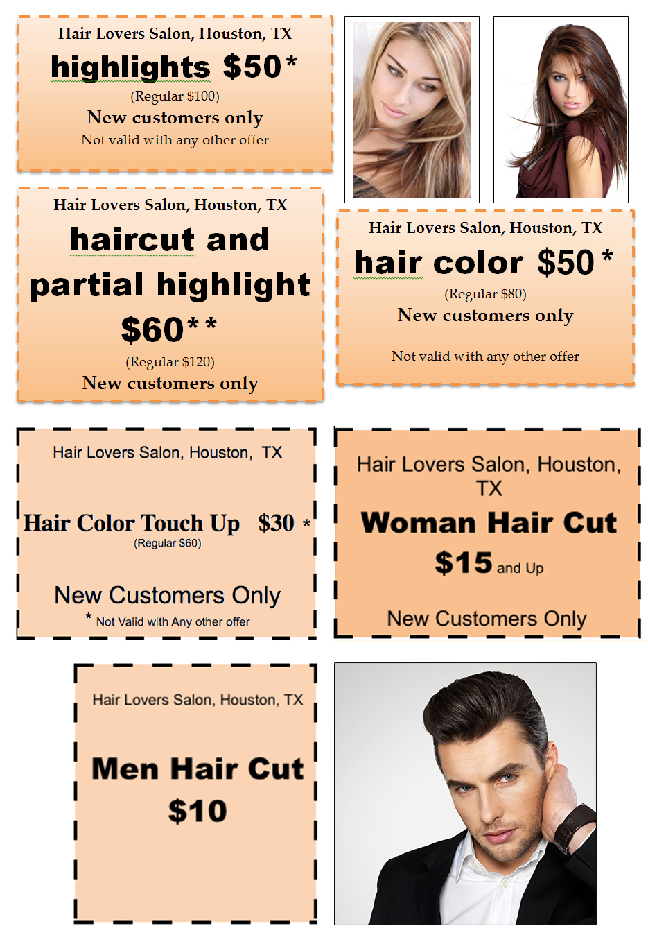 haircut and color coupons hair promotional coupons hair salon 4901